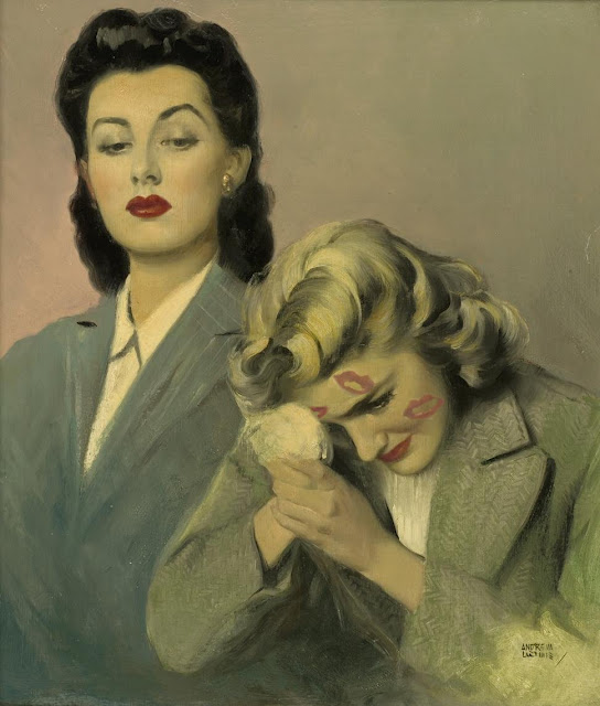 single lesbian women in loomis Oil on board 235 x 20 by andrew loomis (american 1892 full grown lesbian toys and treats for women who love women 14 times lesbian pulp cover art perfectly.